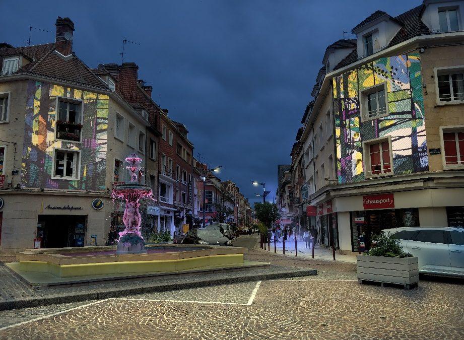 Parcours urbain lumineux