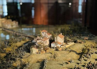 Musée de l'armée : Maquette de la bataille du pont de Lodi